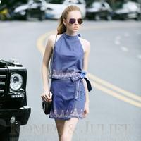 Hàng cao cấp - Set bộ áo váy yếm cực xinh KL38716