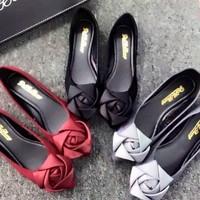 HÀNG CAO CẤP LOẠI I - Giày búp bê hoa hồng xinh