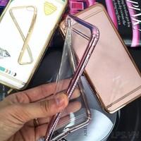 Ốp lưng iPhone 6-6s dẻo viền đính đá