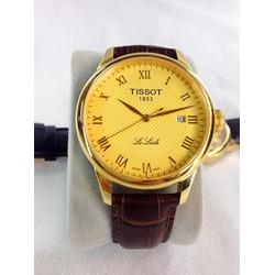 Đồng hồ nam dây da mặt vàng T1102L-FG