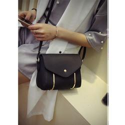 Túi xách nữ đẹp da mềm viền kim loại cách điệu màu đen