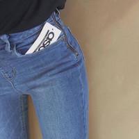 quần jean dây kéo hông