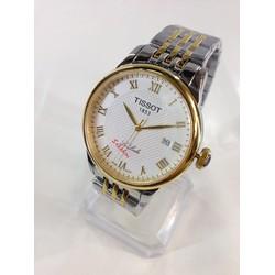 Đồng hồ nam dây inox demi vàng T1102