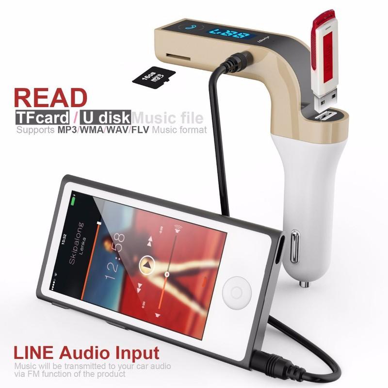 TẨU SẠC MP3 Bluetooth 5 trong 1 cho ô tô Car G7 7