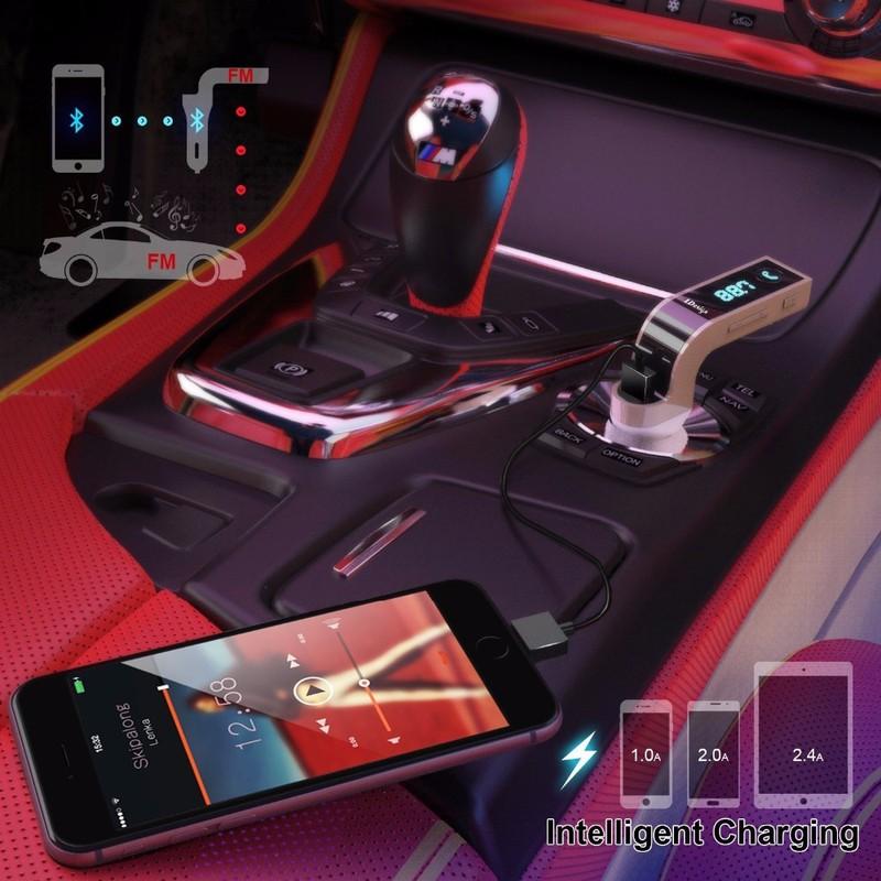 TẨU SẠC MP3 Bluetooth 5 trong 1 cho ô tô Car G7 3