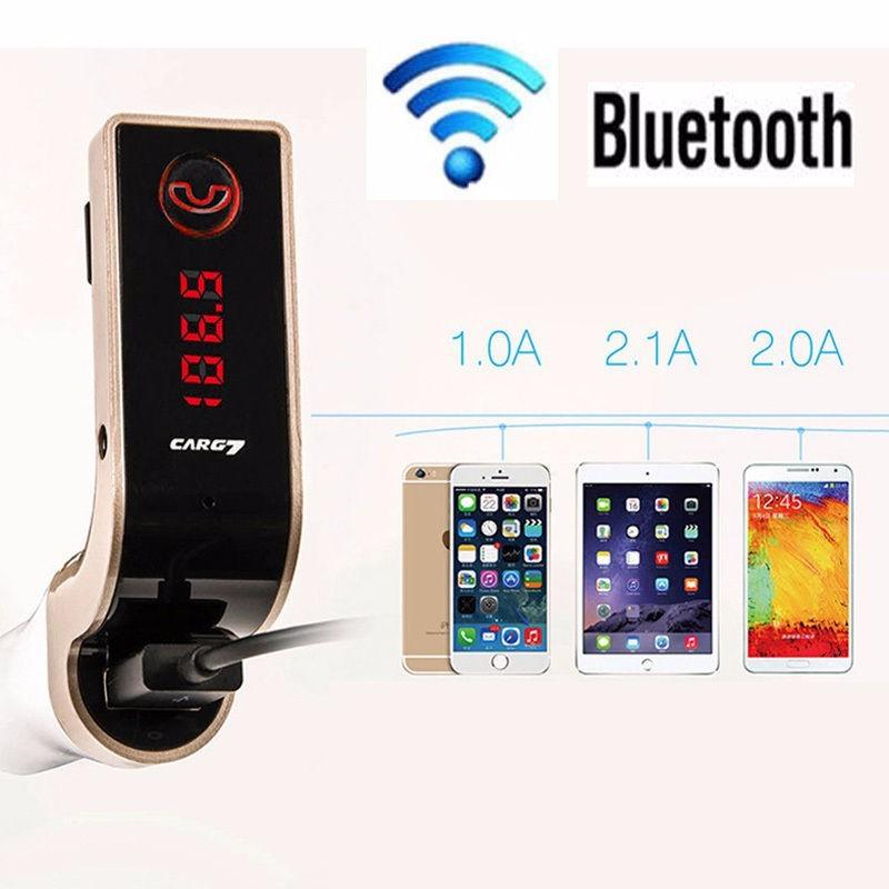 TẨU SẠC MP3 Bluetooth 5 trong 1 cho ô tô Car G7 6