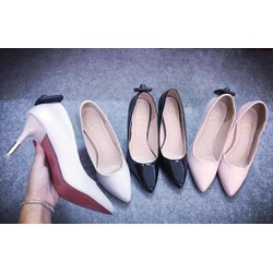 giày cao gót mũi nhọn gót sắt