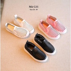 giày da đục lỗ mềm mại và cá tính cho bé trai và bé gái 3 - 6 tuổi G11