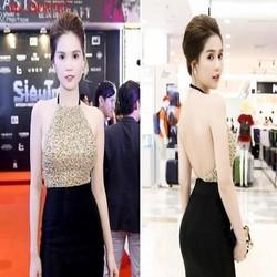 Đầm ôm kiểu cổ yếm kim sa sang trọng như Ngọc trinh DOV917