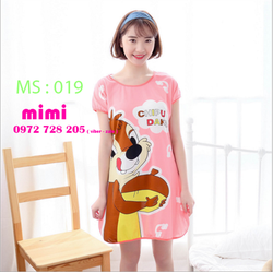 Váy Ngủ Thun Cotton in hình siêu cute