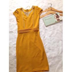 Đầm Váy trung niên FreeSize Vàng Tím Xanh đen Đỏ Hồng - GS155