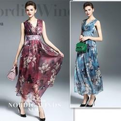 Đầm Maxi hoạ tiết hoa sang trọng