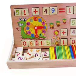 Đồ chơi giáo dục bảng gỗ học toán có que tính