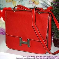 Túi xách da đi chơi khóa chữ H có dây đeo sành điệu TXT33