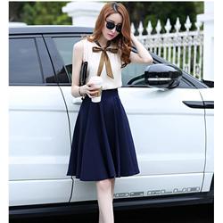 Set áo thăt nơ chân váy TH08368