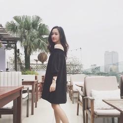 Đầm nhúng bệt vai  đẹp