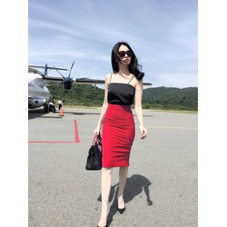 Áo đầm dạo phố thiết kế váy bút chì như Ngọc Trinh M3143