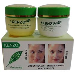 Bộ kem trị nám trắng da Kenzo tinh chất trà xanh ngày và đêm -Nga