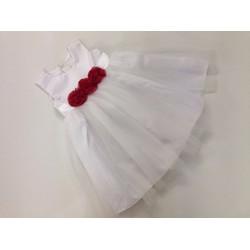 Đầm công chúa kết hoa hồng đỏ