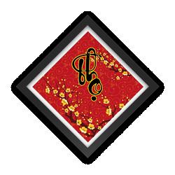 Tranh đồng Hồ Tictac - Chữ Thọ