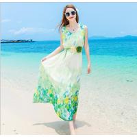 Váy maxi thời trang đi biển cao cấp - B061114