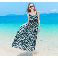 Váy maxi thời trang đi biển cao cấp - B061116