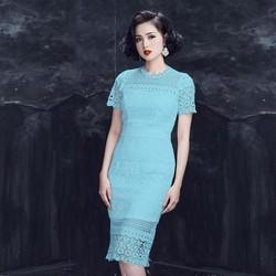 Đầm body ren nổi cao cấp size M, L