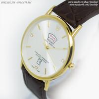Đồng hồ kính sapphire 2 lịch không thấm nước - Mã số: DH1673