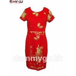 Đầm cao cấp quý phái, sang trọng MY GU D75 - Màu đỏ