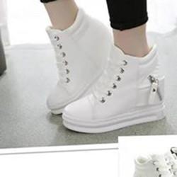 Giày Thể Thao Nữ Tăng Chiều Cao GM05 - Trắng