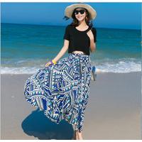 Sét áo và váy maxi thời trang đi biển cao cấp - B061201