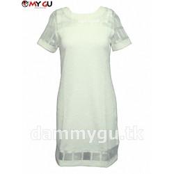 Đầm suông thanh lịch, cá tính MY GU D79 - Màu trắng