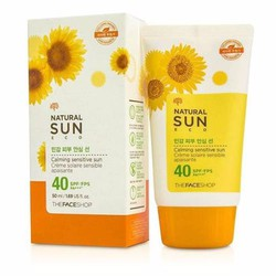 Kem chống nắng The Face Shop Natural Sun Eco SPF40 PA