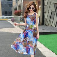 Váy maxi thời trang đi biển cao cấp - B061117
