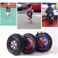 Ba lô hình bánh xe đáng yêu cho bé