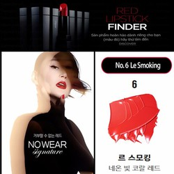 Son Espoir Lipstick No Wear Signature - màu đỏ No.6 Le Smoking