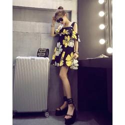 Đầm suông họa tiết hoa dạo phố - DHD19