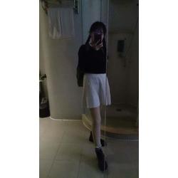 chân váy len dệt kim