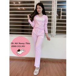 Set bộ mặc nhà họa tiết chữ pink sành điệu BYL06