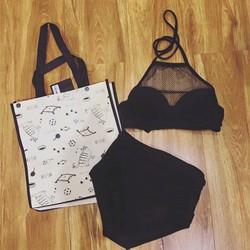 Set bikini gọng phối lưới
