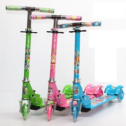 Xe trượt Scooter 3 bánh phát sáng Bảng bự có lò xo cho bé - PTIN2-1367