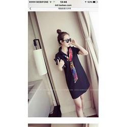 Đầm suông kèm khăn choàng cổ - GS170