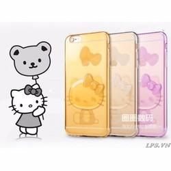 Ốp lưng iPhone 6-6s dẻo hình Kitty in nổi
