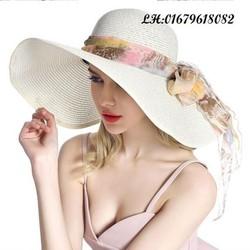 nón mũ rộng vành nữ Mãi yêu em thời trang cao cấp chống tia UV gấp gọn