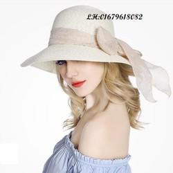 nón mũ rộng vành nữ tình yêu màu nắng gấp gọn chống tia UV