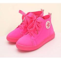 Giày bata cao cổ màu neon