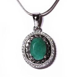 Mặt dây chuyền ngọc Emerald tự nhiên Trang sức HNJ