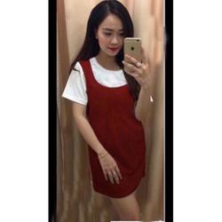 Đầm suông ngắn tay thiết kế mới thanh lịch, mẫu Hàn Quốc