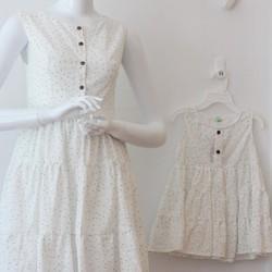 Đầm công chúa nhiều tầng cho mẹ và bé