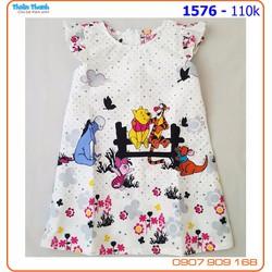 Đầm kate suông họa tiết Disney đáng yêu cho bé